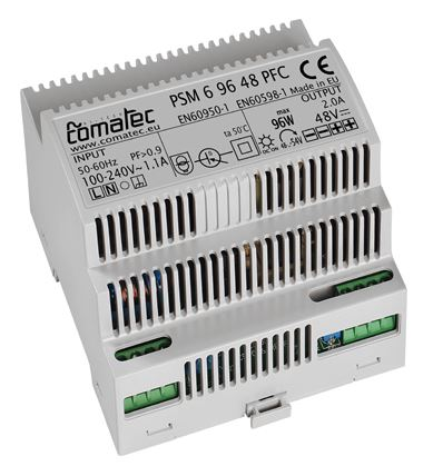 17.  ALIMENTATORE DA GUIDA DIN 48 VDC - 96W CON PFC (POWER FACTOR CORRECTION)